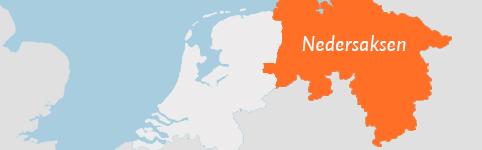 Kaart van Nedersaksen