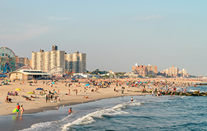 Een dagje strand op Coney Island
