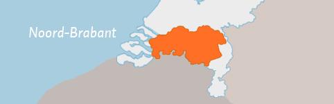 Kaart van Noord-Brabant