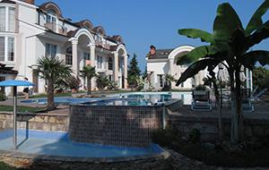 Fijn zwembad: Hotel Aleksandar Villa