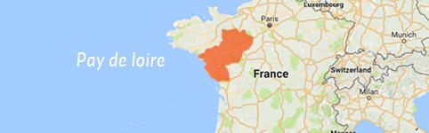 Kaart van Pays de la Loire