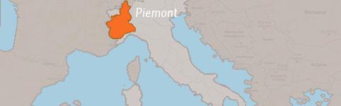 Kaart van Piemont