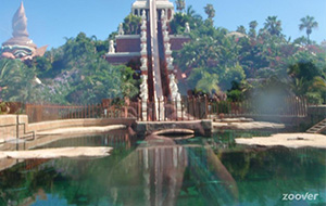 Waterpret in het Siam Park