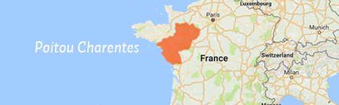Kaart van Poitou Charentes