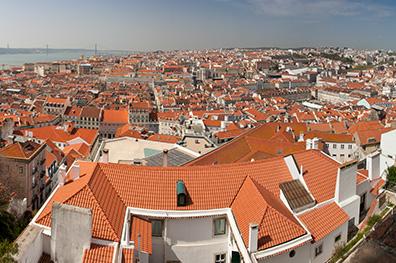 De witte stad Lissabon