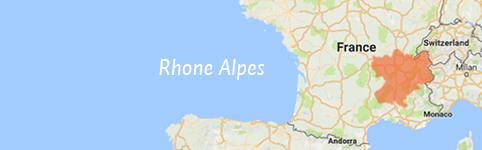 Kaart van Rhône-Alpes
