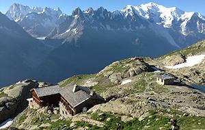 Op grote hoogte: Refuge du Lac Blanc