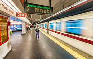 Bereik je in Rome met de metro
