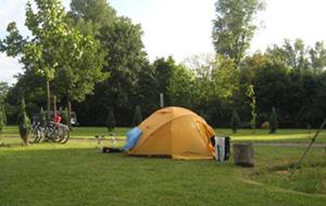 Aan het stadspark: Camping Dr. E. Dadder