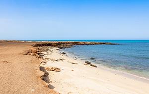 Het zandstrand van Murdeira