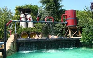 Van de glijbaan in Canevaworld Aqua Paradise Park