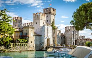 In de torens van Kasteel Rocca Scaligera
