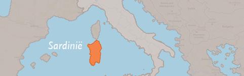 Kaart van Sardinië