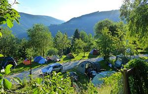 In de bergen: Camping Dachstein