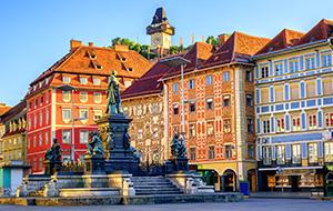 De hoofdstad Graz