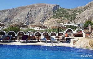 Met prachtig uitzicht: Aparthotel Black Sand op de Cycladen