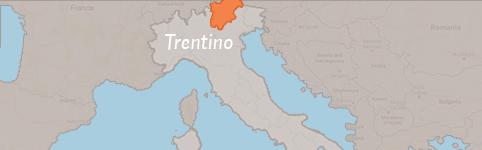 Kaart van Trentino