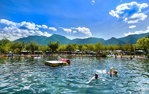 Waterplezier op camping Lago di Levico