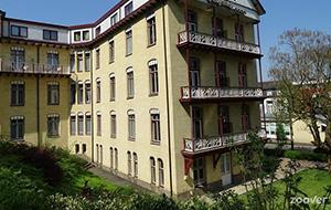 In het groen: Hotel Parkhotel Valkenburg