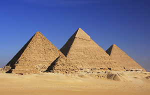 Indrukkende Piramiden van Gizeh in Egypte