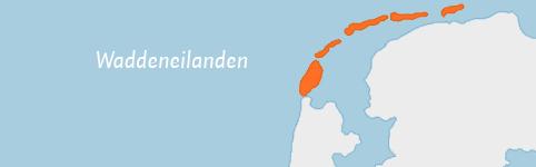 Kaart van Waddeneilanden