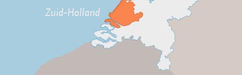 Kaart van Zuid-Holland