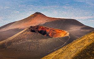 Boven op de Etna
