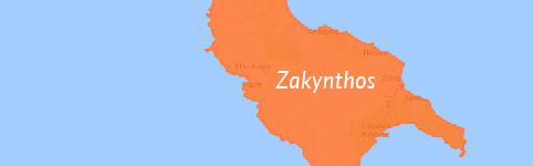 Kaart van Zakynthos