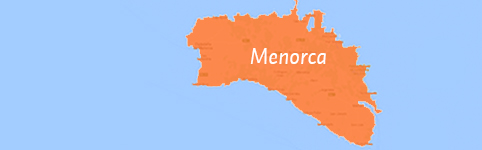 Kaart van Menorca