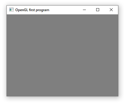 First Program in OpenGL 4.6