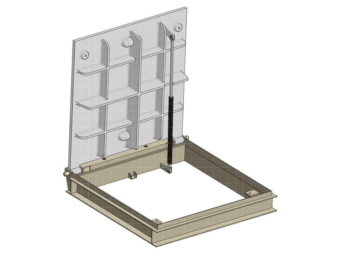Schachtabdeckungen aus Gusseisen / verzinktem Stahl