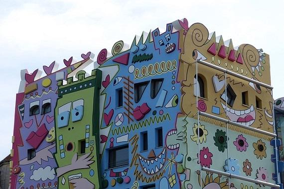 Buntes Gebäude in Braunschweig