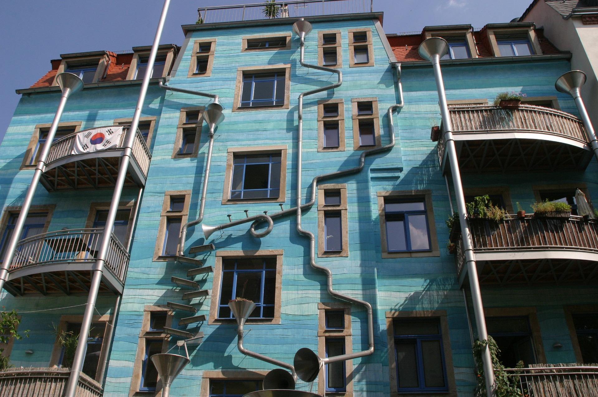 Häuserfassade in Dresden