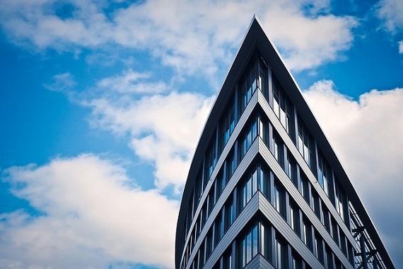 Futuristisches Gebäude in Düsseldorf