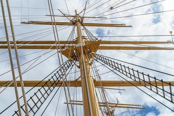 Schiffsmast in Lübeck