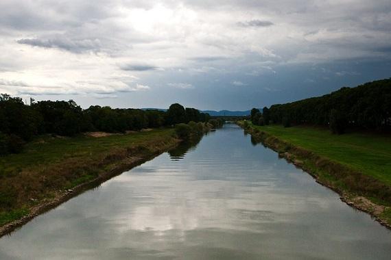 Fluss in Mannheim