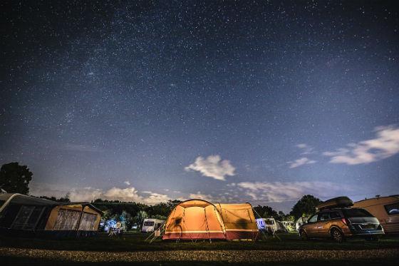 Campingplatz Düsseldorf Sternenhimmel