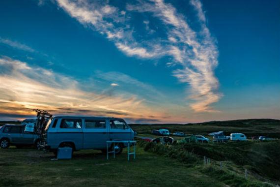 Camping France coucher de soleil