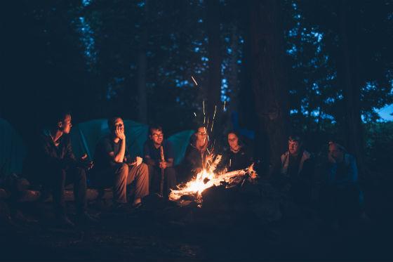 Lagerfeuer Campingplatzt Mannheim