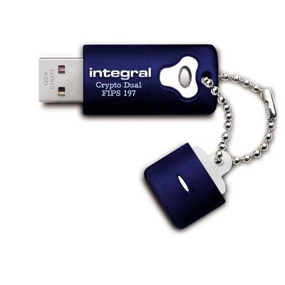 Integral Crypto Dual FIPS 197 Encrypted USB 16GB