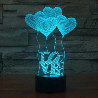 3D stolüstü lampa