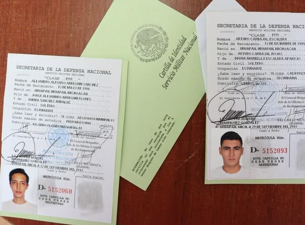 Cartilla de Identidad del Servicio Militar Nacional