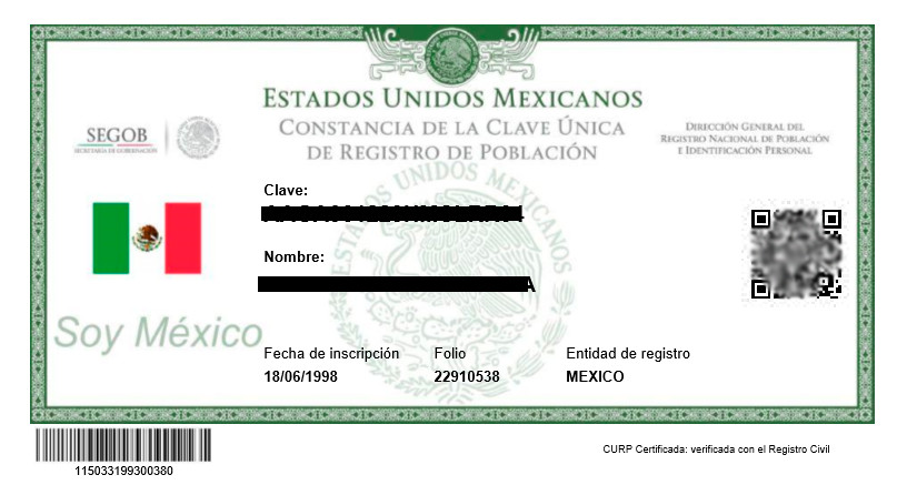 Clave Única de Registro de Población (CURP)