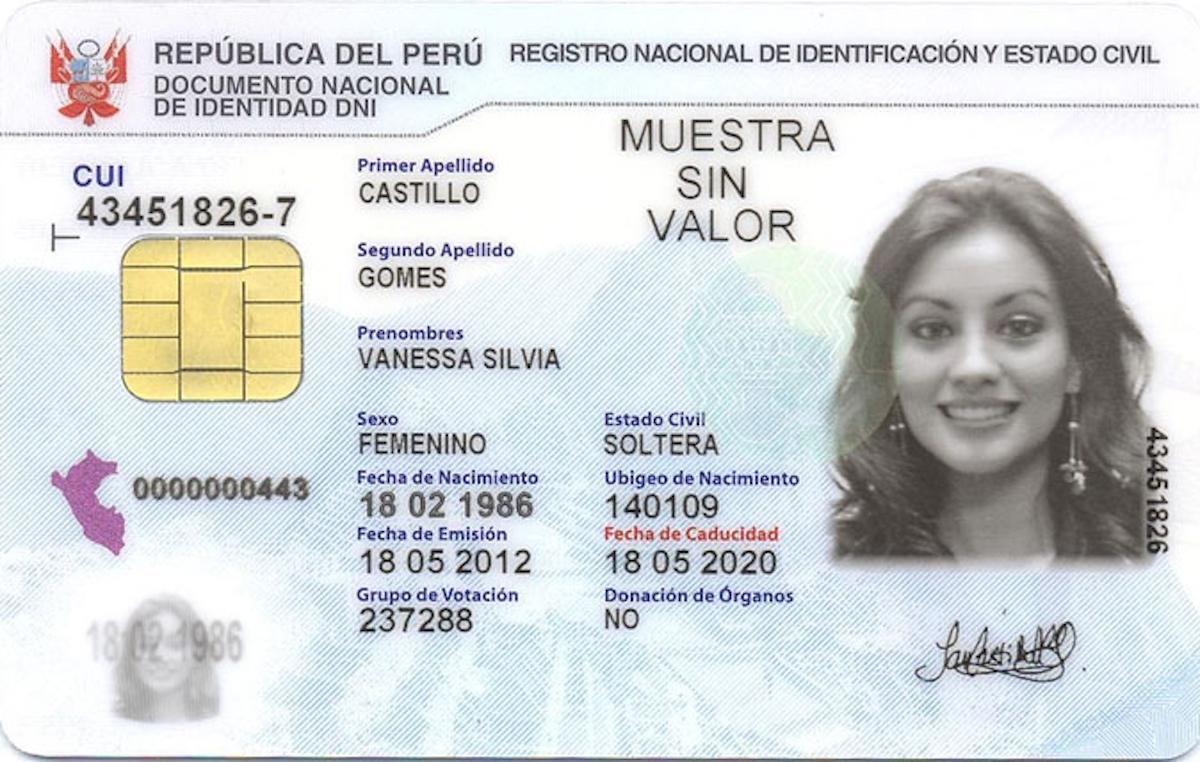 Cómo solicitar el Documento Nacional de Identidad (DNI) peruano