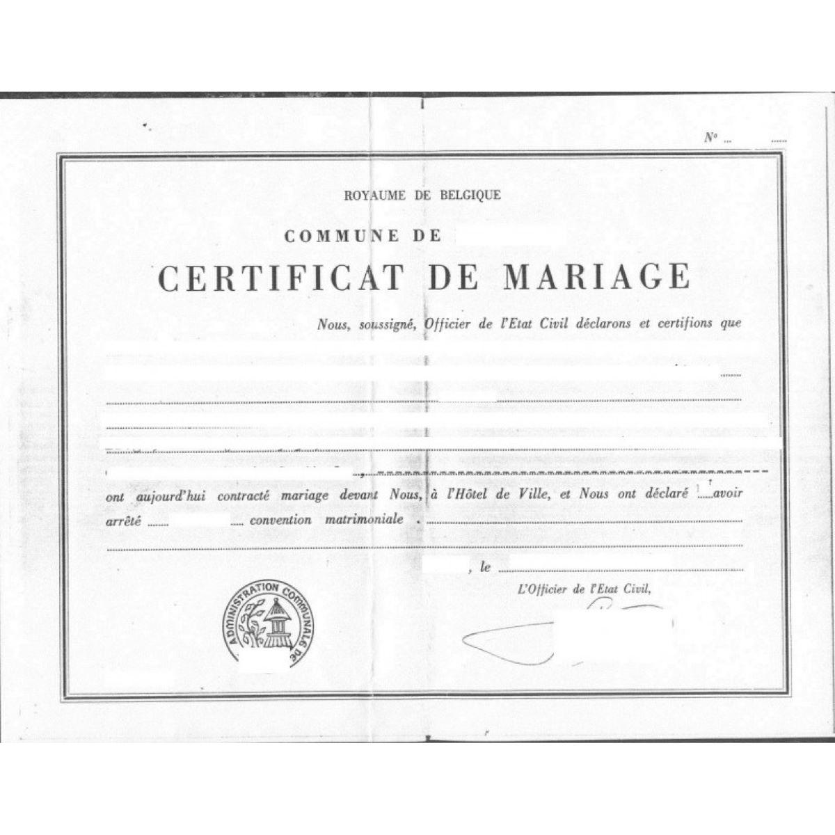 Comment Demander une Copie de l'Acte de Mariage en Belgique