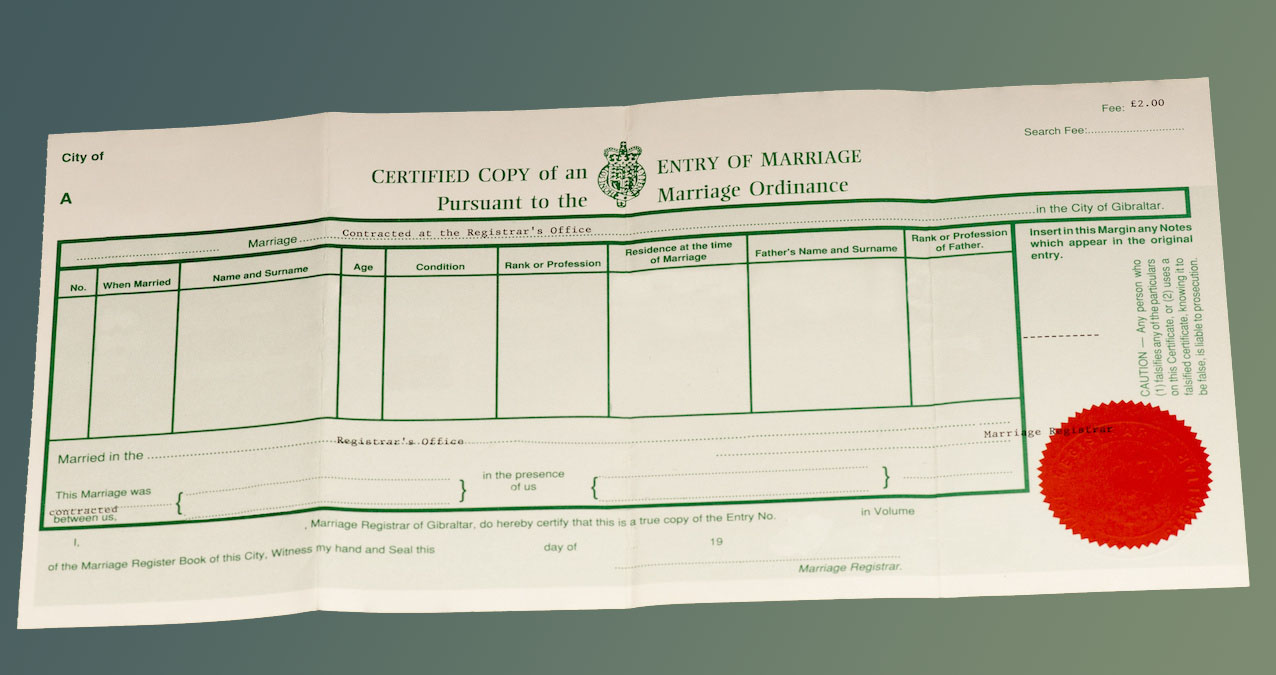 How to get married and obtain your marriage certificate