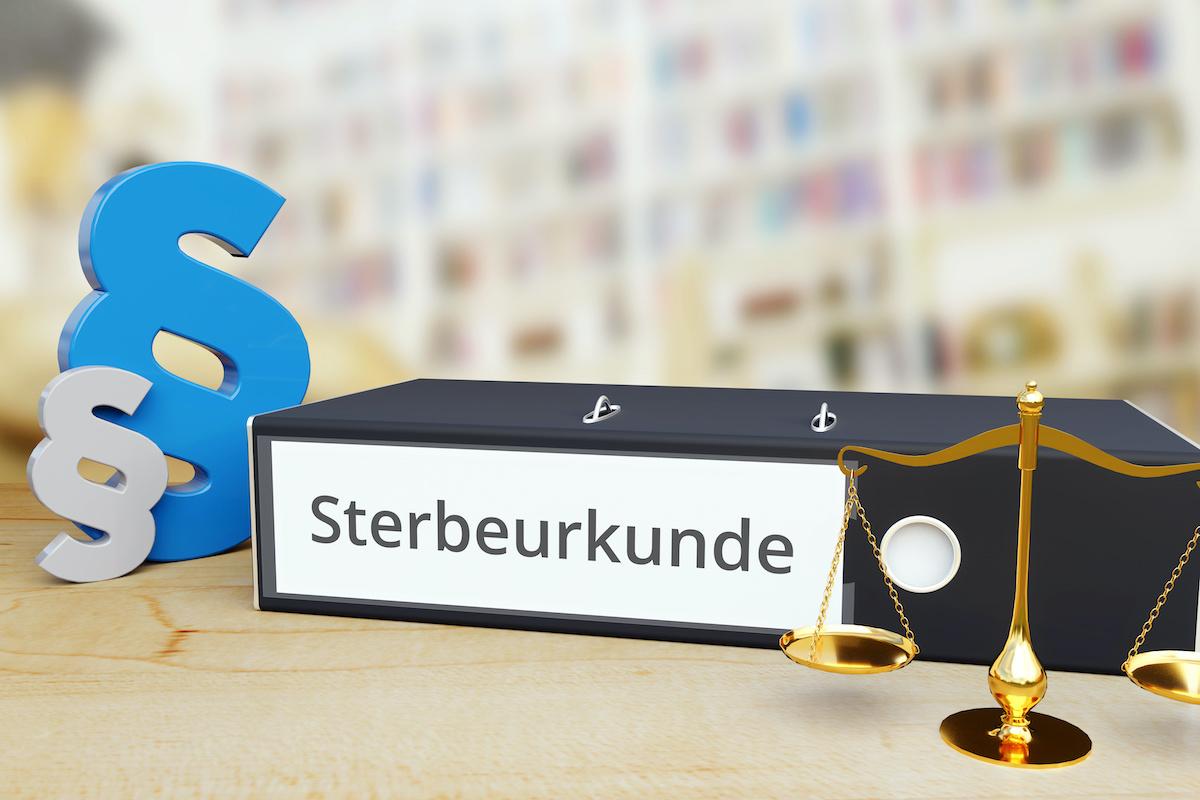Sterbeurkunde in Deutschland