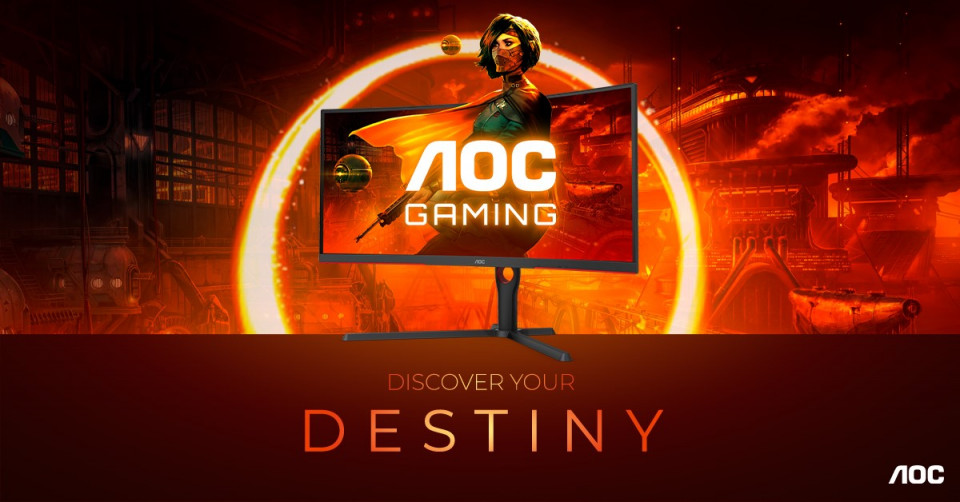 AOC GAMING G3 Series – immersion redefined:  1000R curvature, 165 Hz, 1 ms