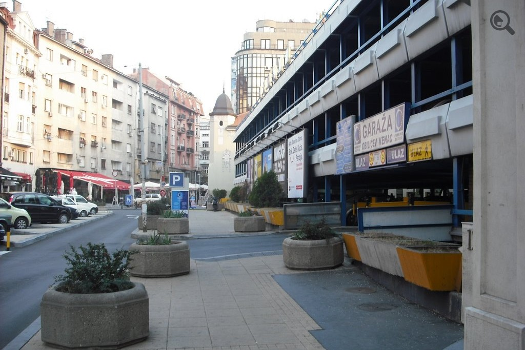 obilicev venac mapa beograd Public Parking Garage Obilicev venac Belgrade Parking obilicev venac mapa beograd