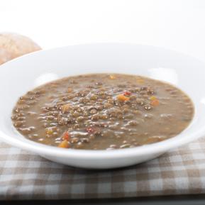 Stewed lentils with vegetables